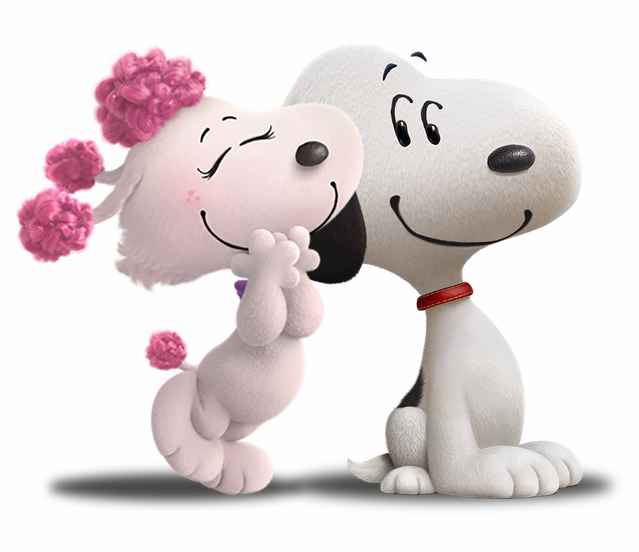 Snoopy 3d png. Fifi and woodstock by
