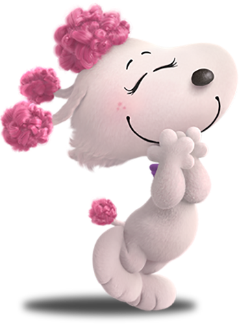 Fifi is a stylish. Snoopy 3d png black and white stock