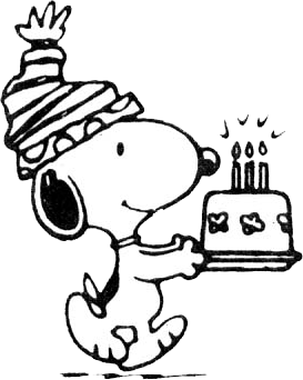 Carrying a small birthday. Snoopy png clipart transparent