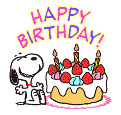 Snoopy birthday png. Funny faces stickers new