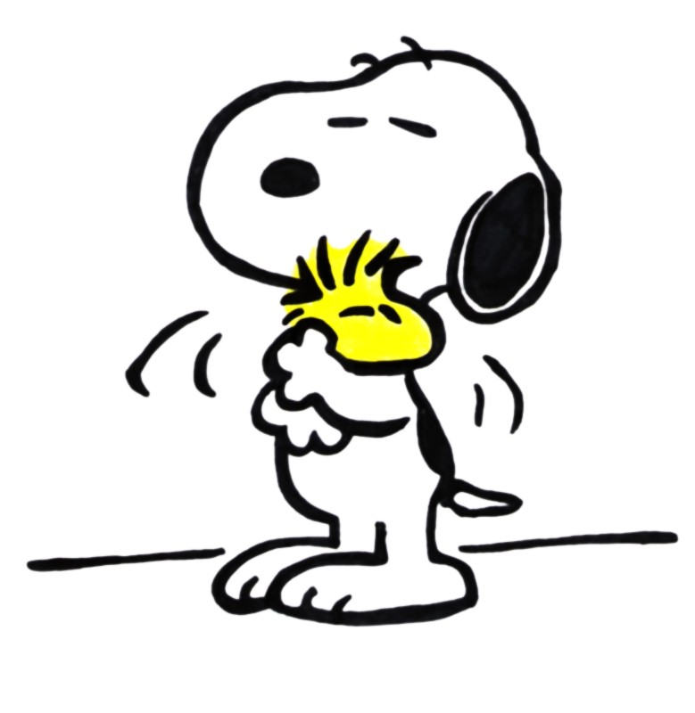 Snoopy clipart. Woodstock loves