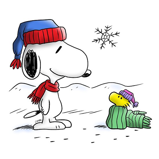 Snoopy clipart winter. Woodstock peanuts posters by