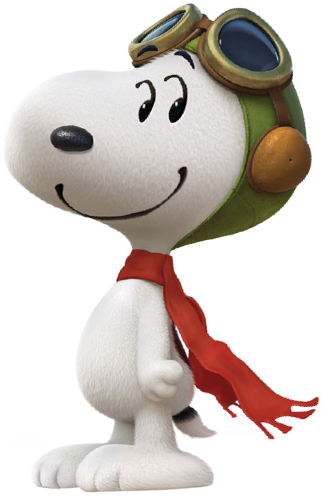 Snoopy peanuts movie png. Flying ace by bradsnoopy