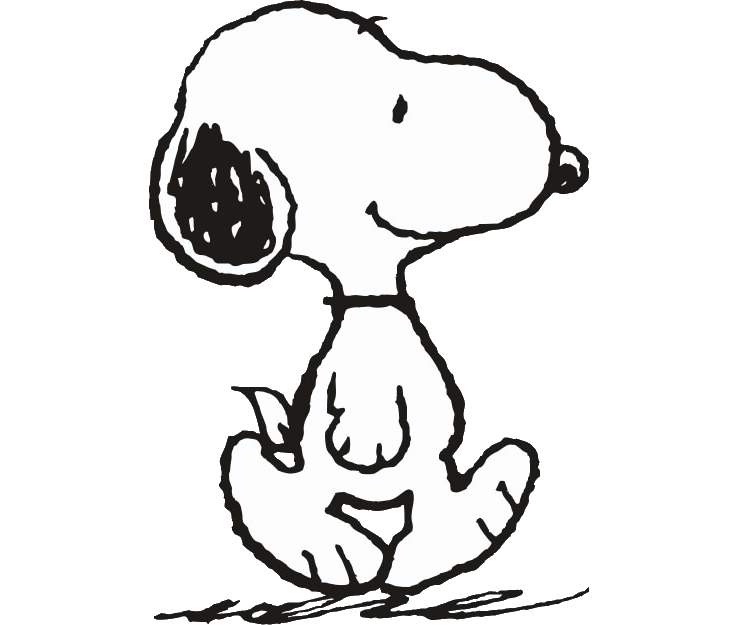 collection of black. Snoopy clipart png black and white download