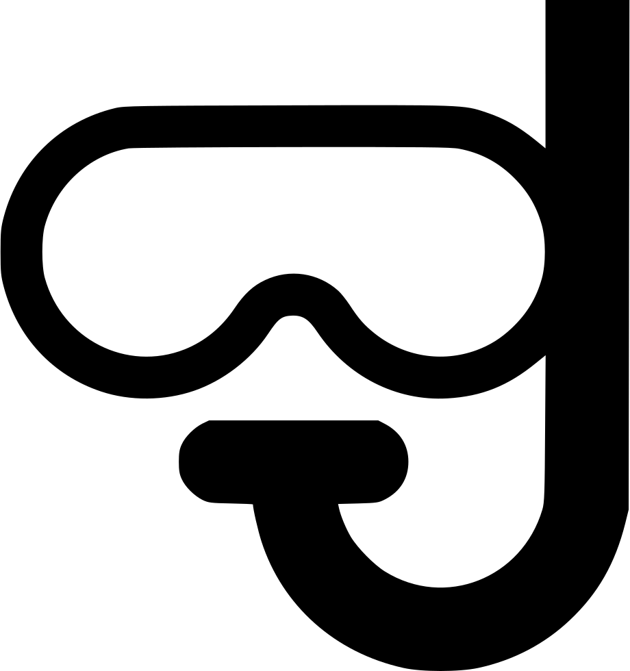 Snorkel drawing patent. Diving and mask svg