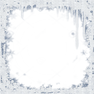 Snow border png. Winter flake icicle frame