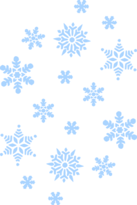 Snowflakes clipart falling.