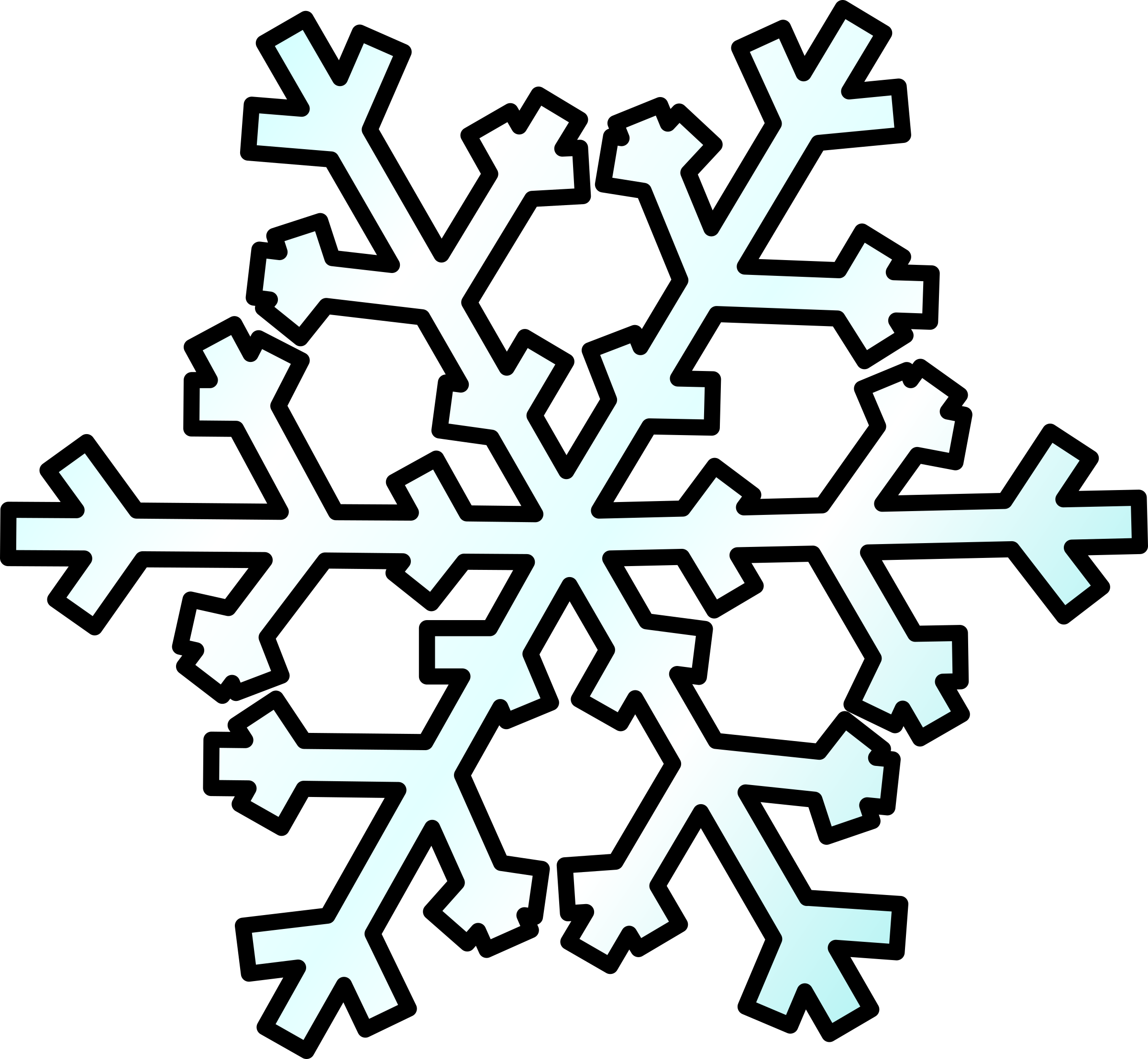 Snow clipart. Weather symbols big image