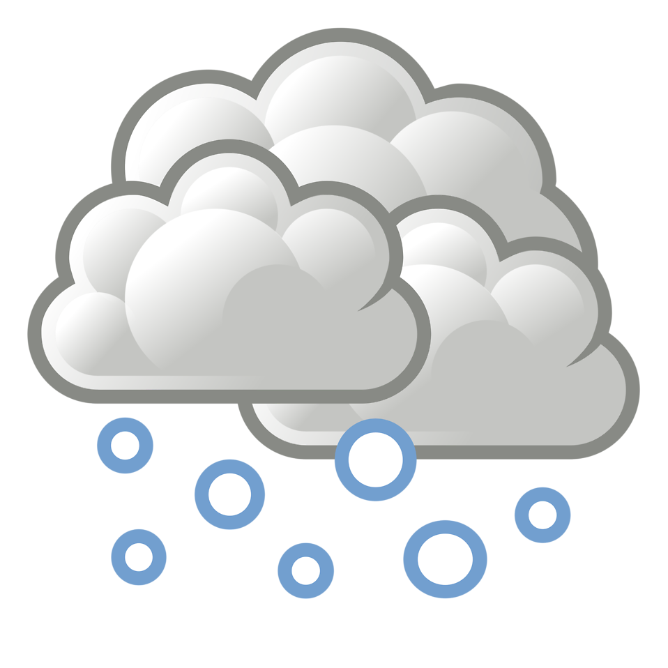 Snow clipart. Cloud