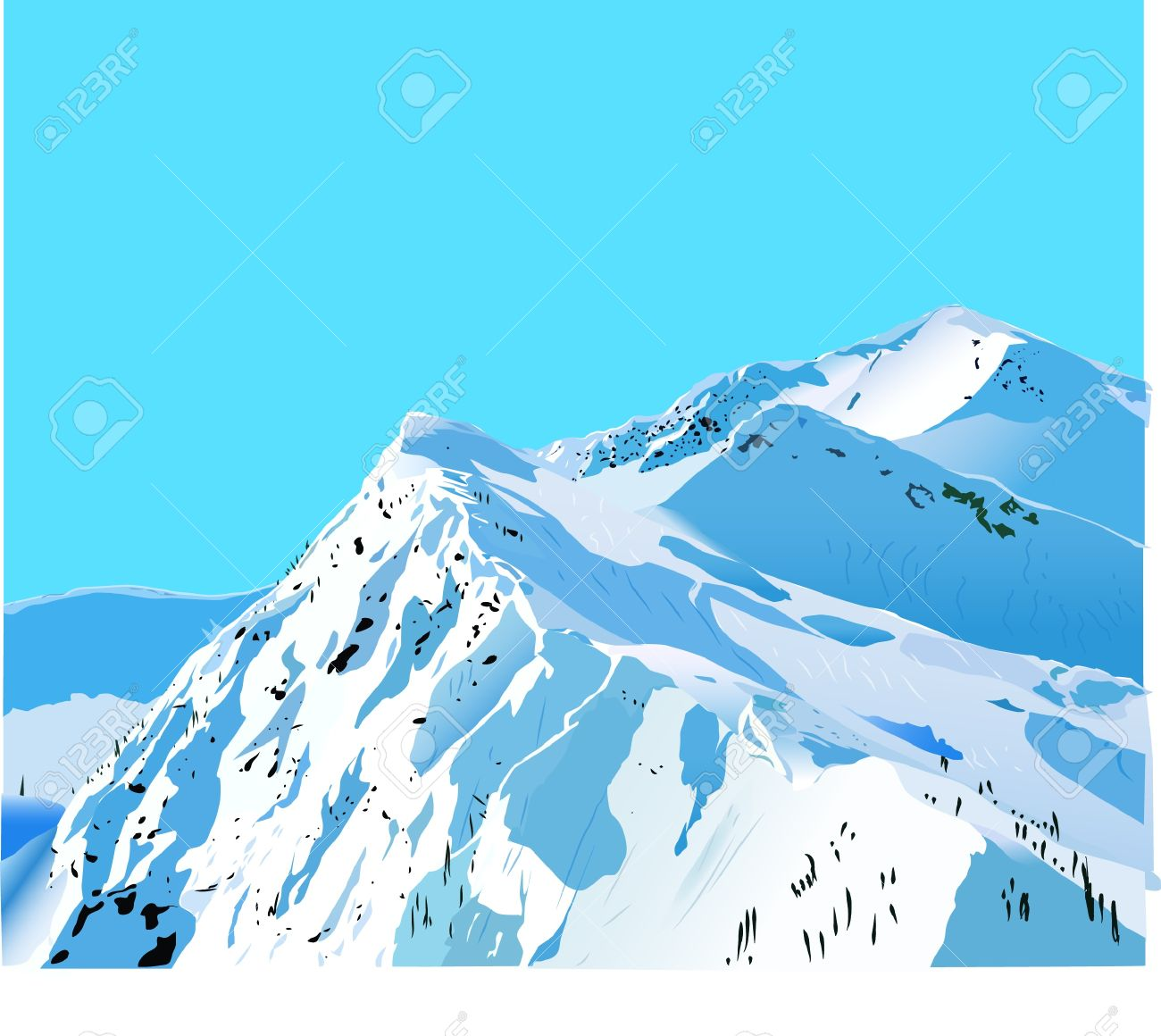 Clipground. Snow clipart mountain image free download