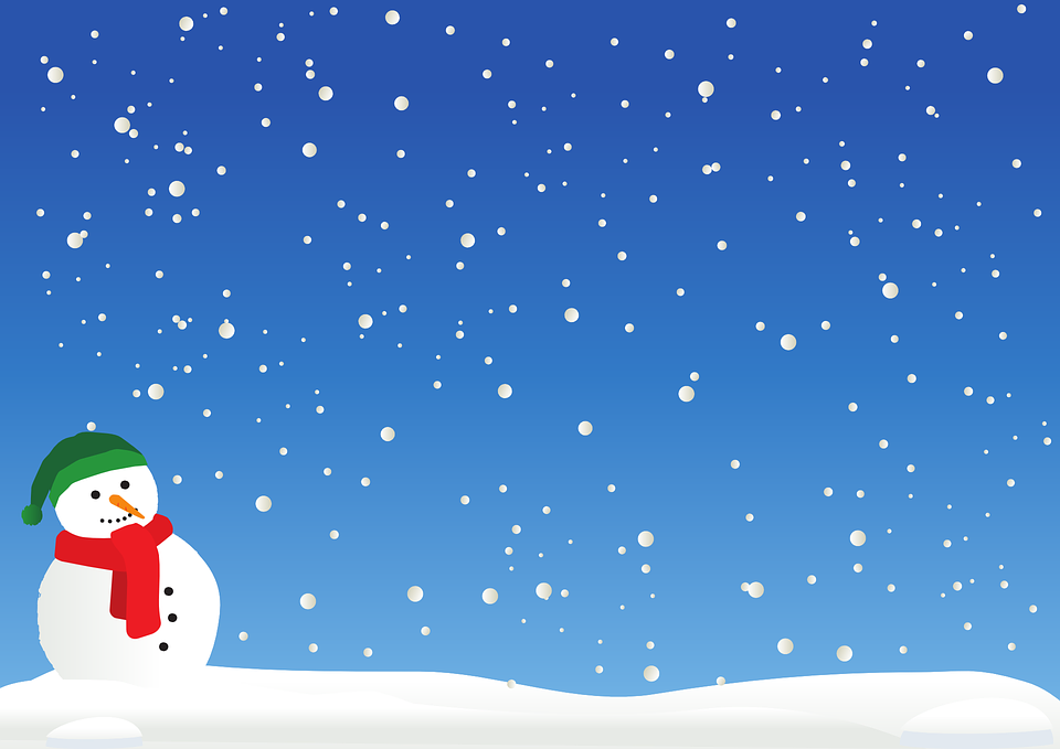 Snow clipart. Snowman and in