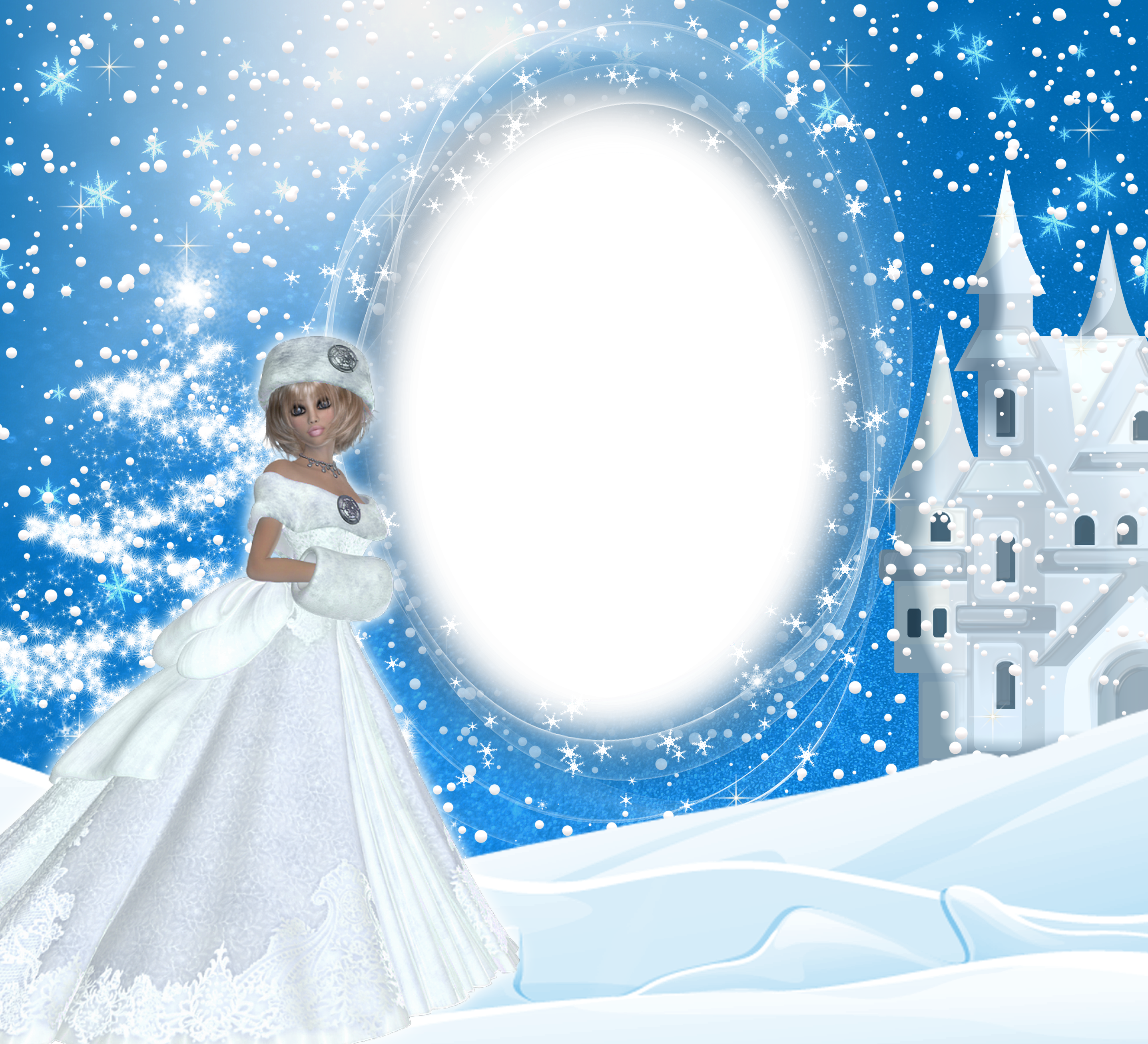 Winter frames png. Snow lady frame gallery