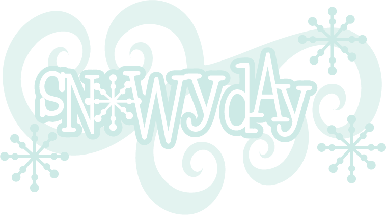 Snowy day scrapbook title. Snow svg clip art black and white library