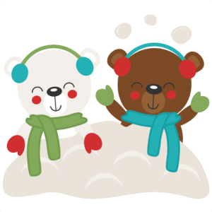 Christmas bears in miss. Snow svg clip art image freeuse stock