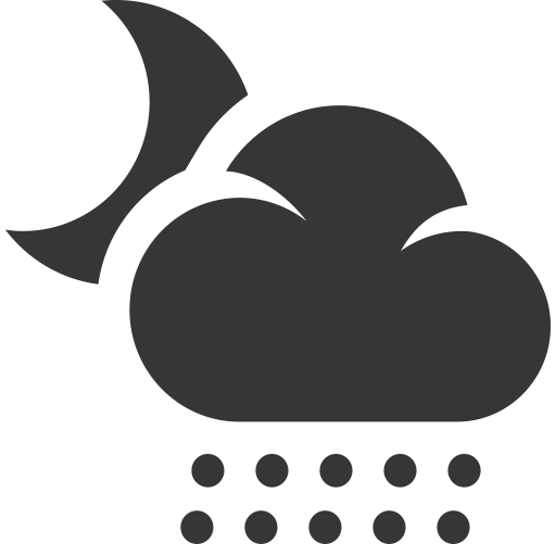 Snow svg weather icon. And forecast by pixotico