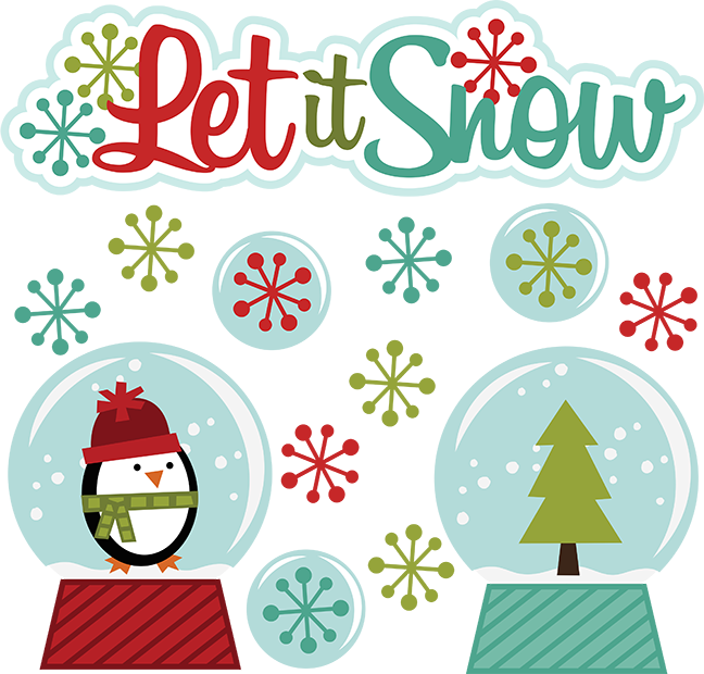 Snow svg winter. Let it clipart cut