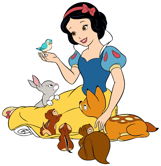 Snow white animals png. Clip art disney galore