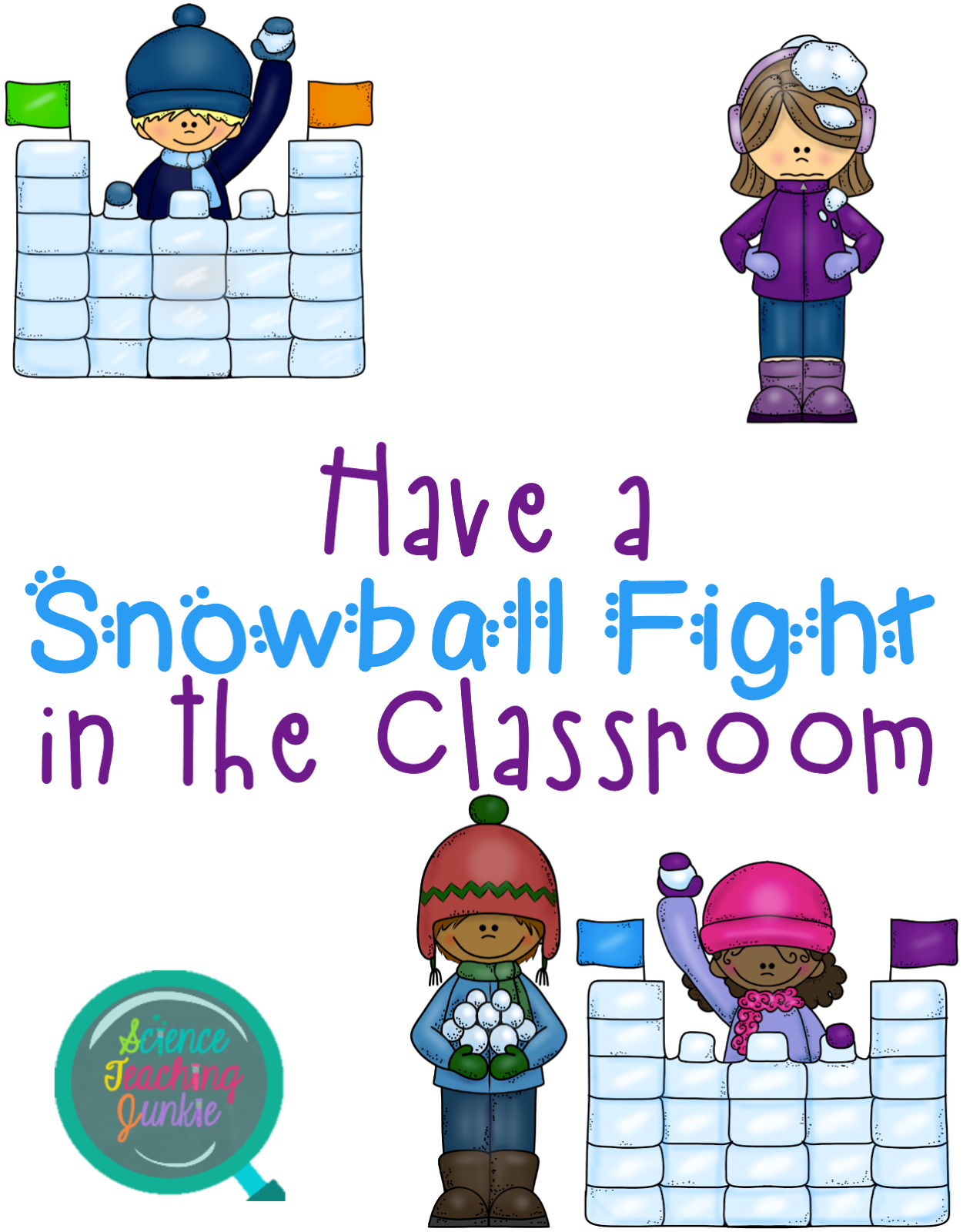 Snowball fight png. Science teaching junkie inc