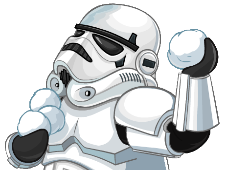 Snowball fight png. Image stormtrooper snow ball