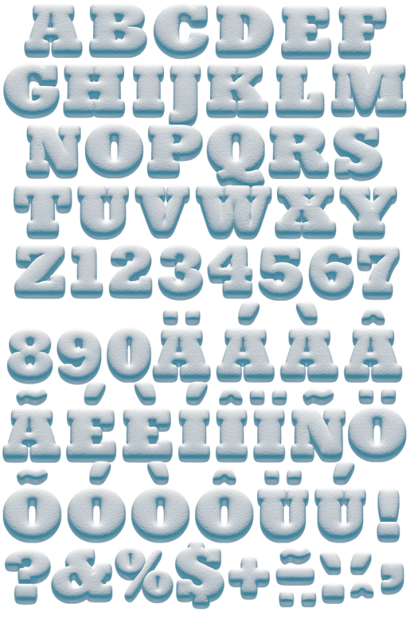 Snowball vector glass. Buy font and play