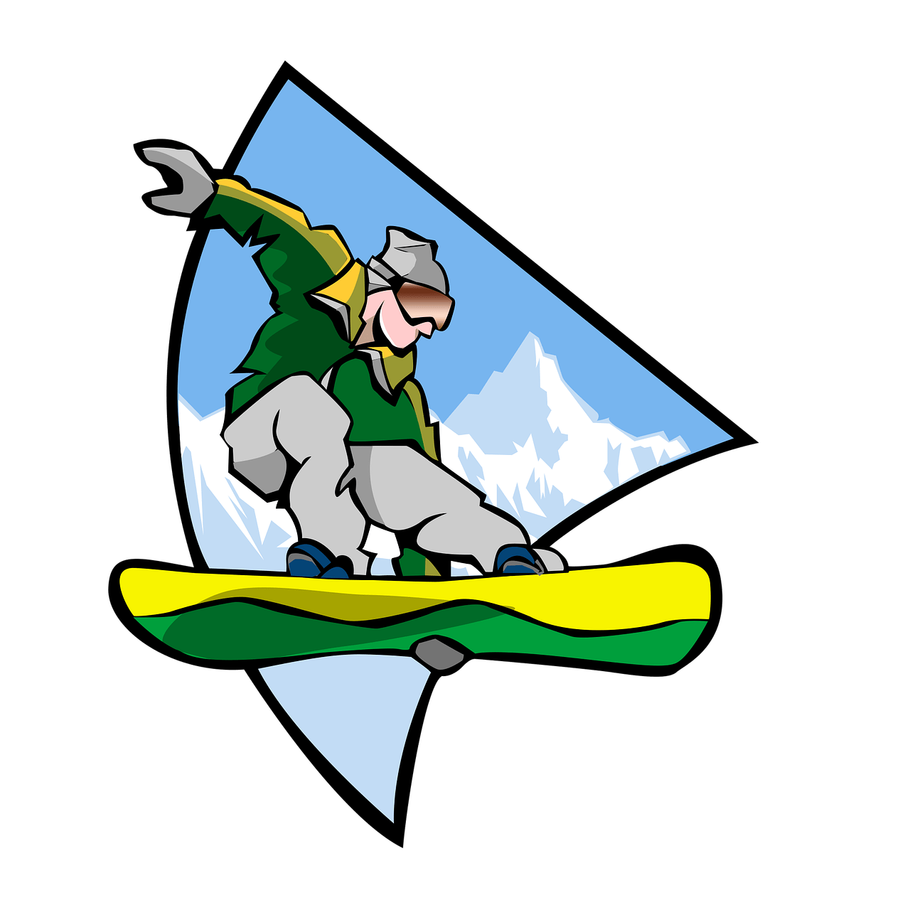 snowboarders clipart sport