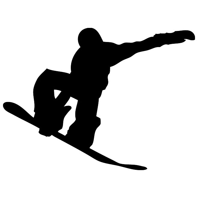 Snowboard clipart outline. Silhouette at getdrawings com