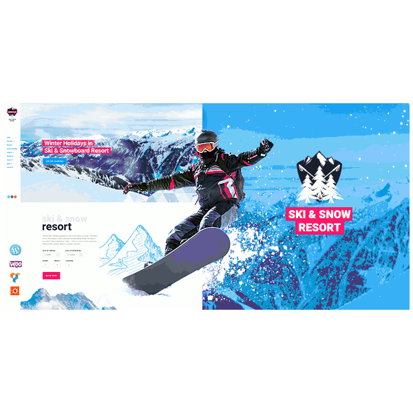 Snowboarders clipart animated winter holiday. Snow club ski resort
