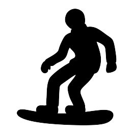snowboarding drawing svg