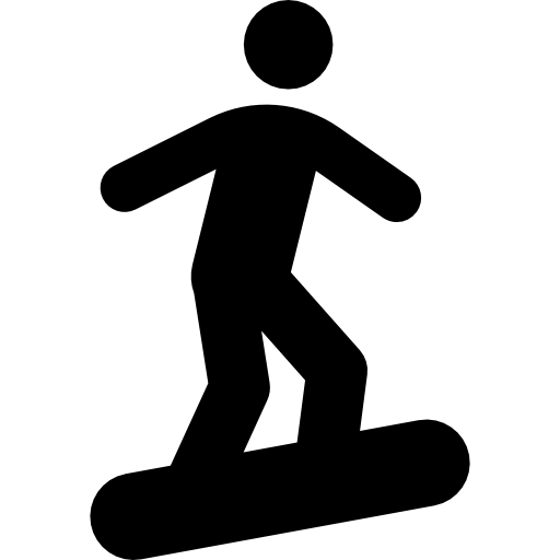 snowboarder drawing vector
