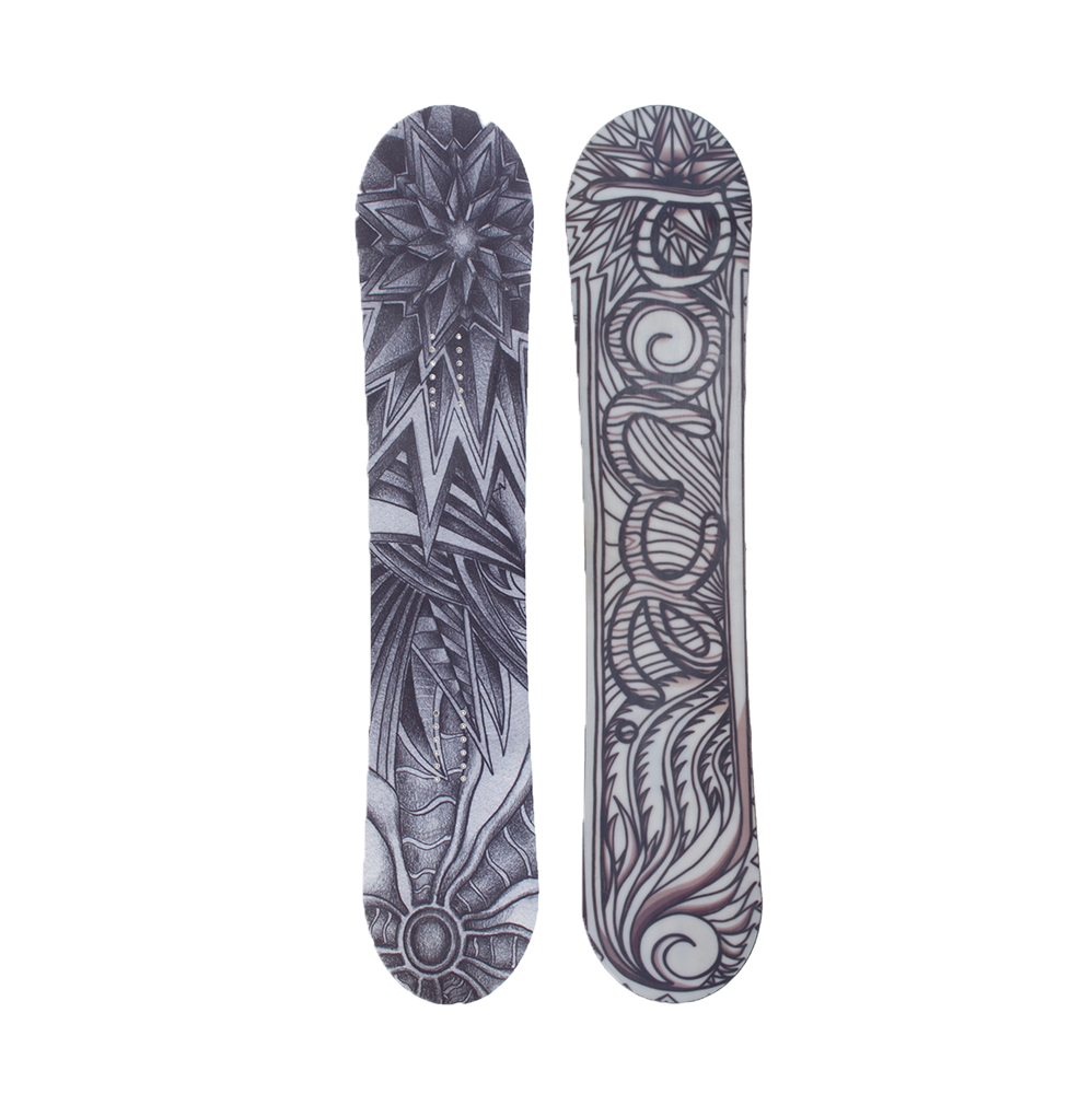 Snowboarding drawing. Powe snowboards the slayer