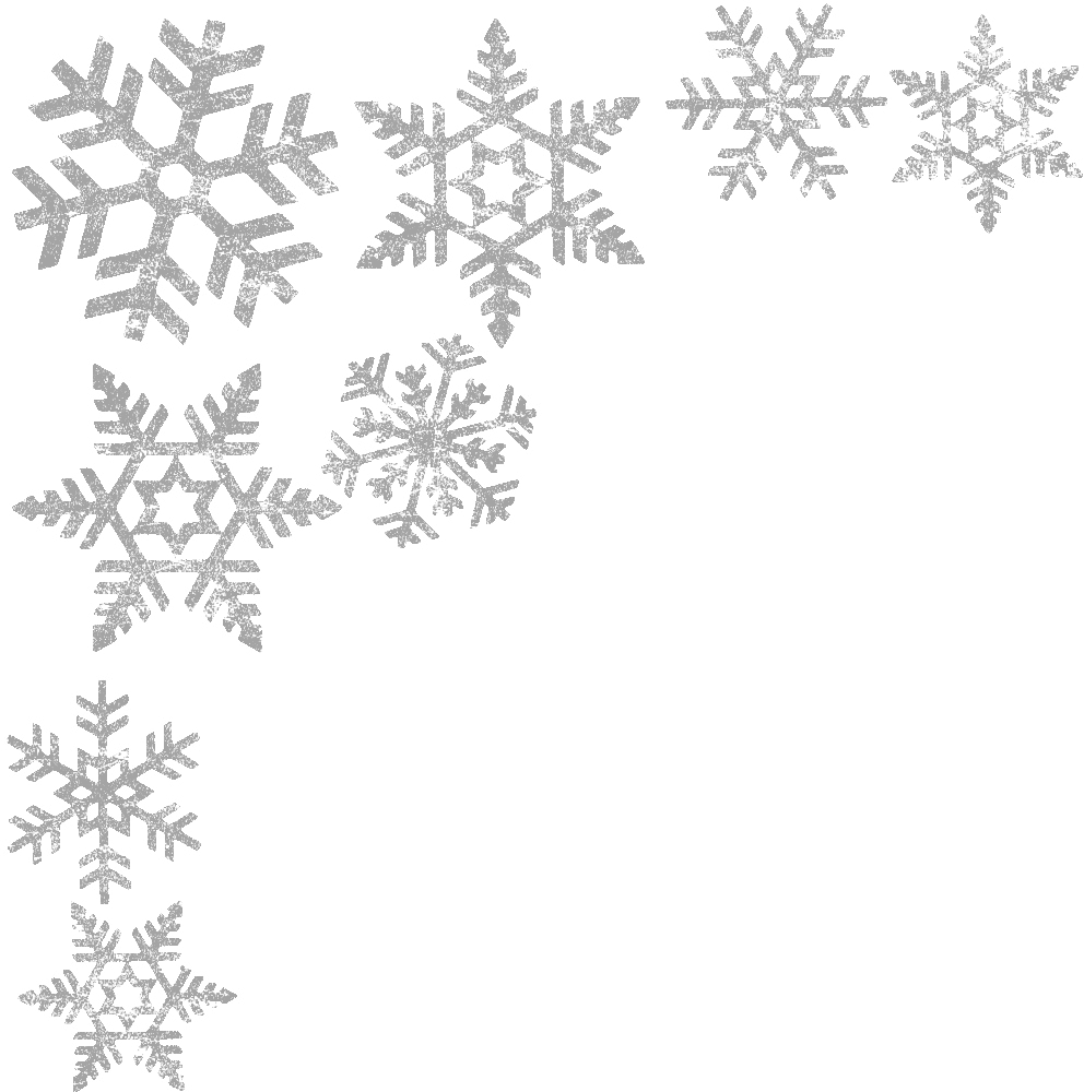 Snowflake background png. Silver transparent stickpng corner