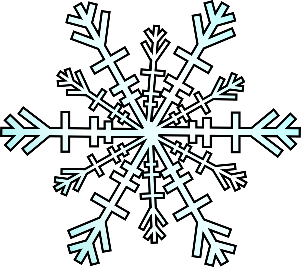 Drawing details snowflake. Snow flakes clip art