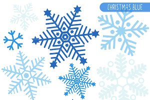 Snowflakes clipart. Blue snowflake photos graphics
