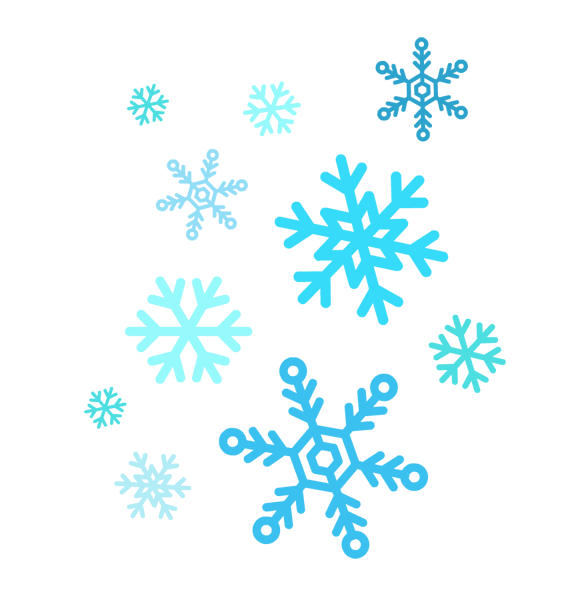 snowflakes clipart group