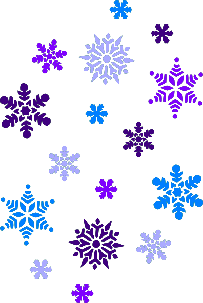 snowflakes clipart cut out