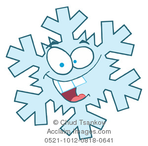Snowflake clipart cartoon. A smiling image