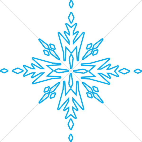 Snowflakes clipart group. Blue arrow snowflake images