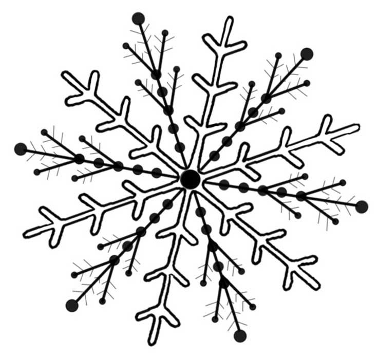 Snowflake Drawing Transparent Clipart Free Download