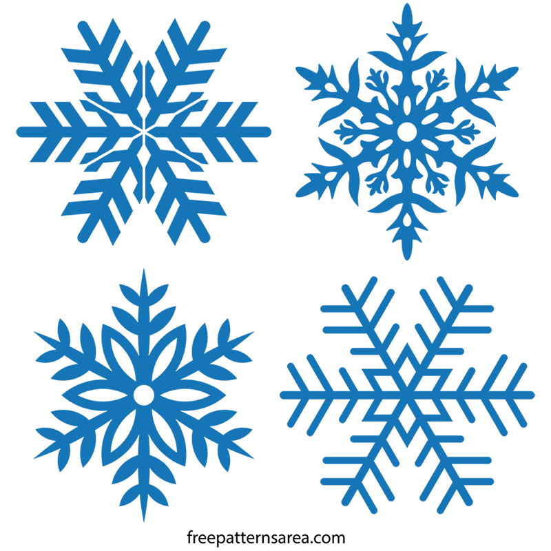 Snowflakes clipart stencil. Free snowflake vector drawings