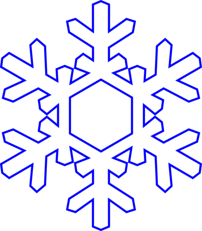 Snowflakes clipart large. Free small snowflake download
