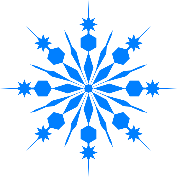 Snowflake clipart png. Blue