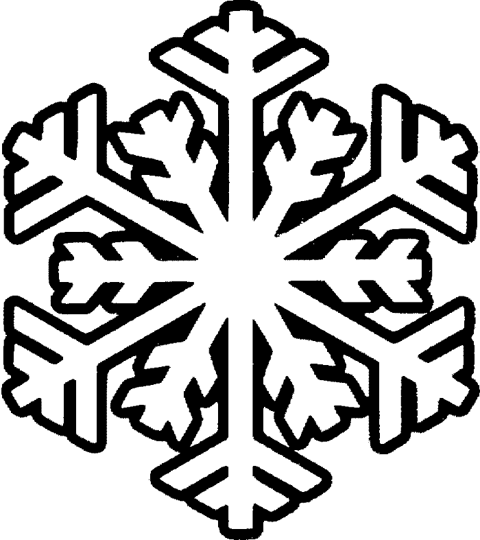 Snowflakes clipart black and white. Free snowflake images download