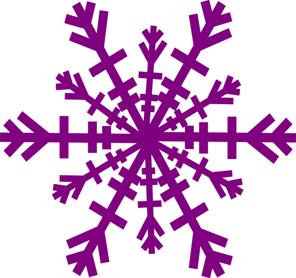Vector icicles paper. Purple snowflake clip art