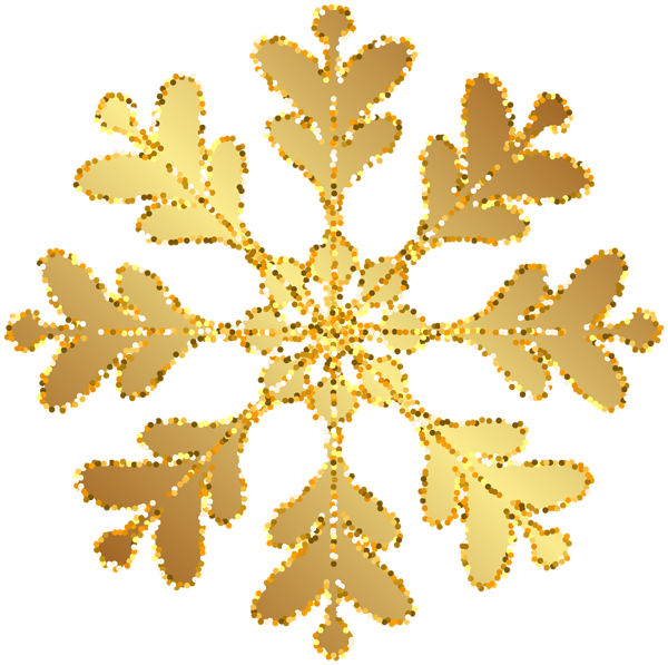 Snowflake clipart yellow. Gold transparent clip art