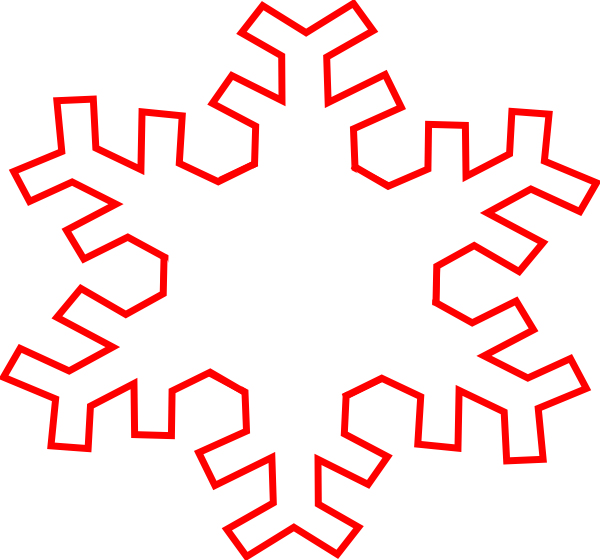 Snowflake outline png. Clipart