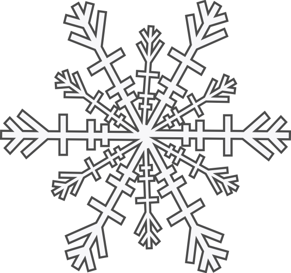 Snowflake outline png. Clip art at clker