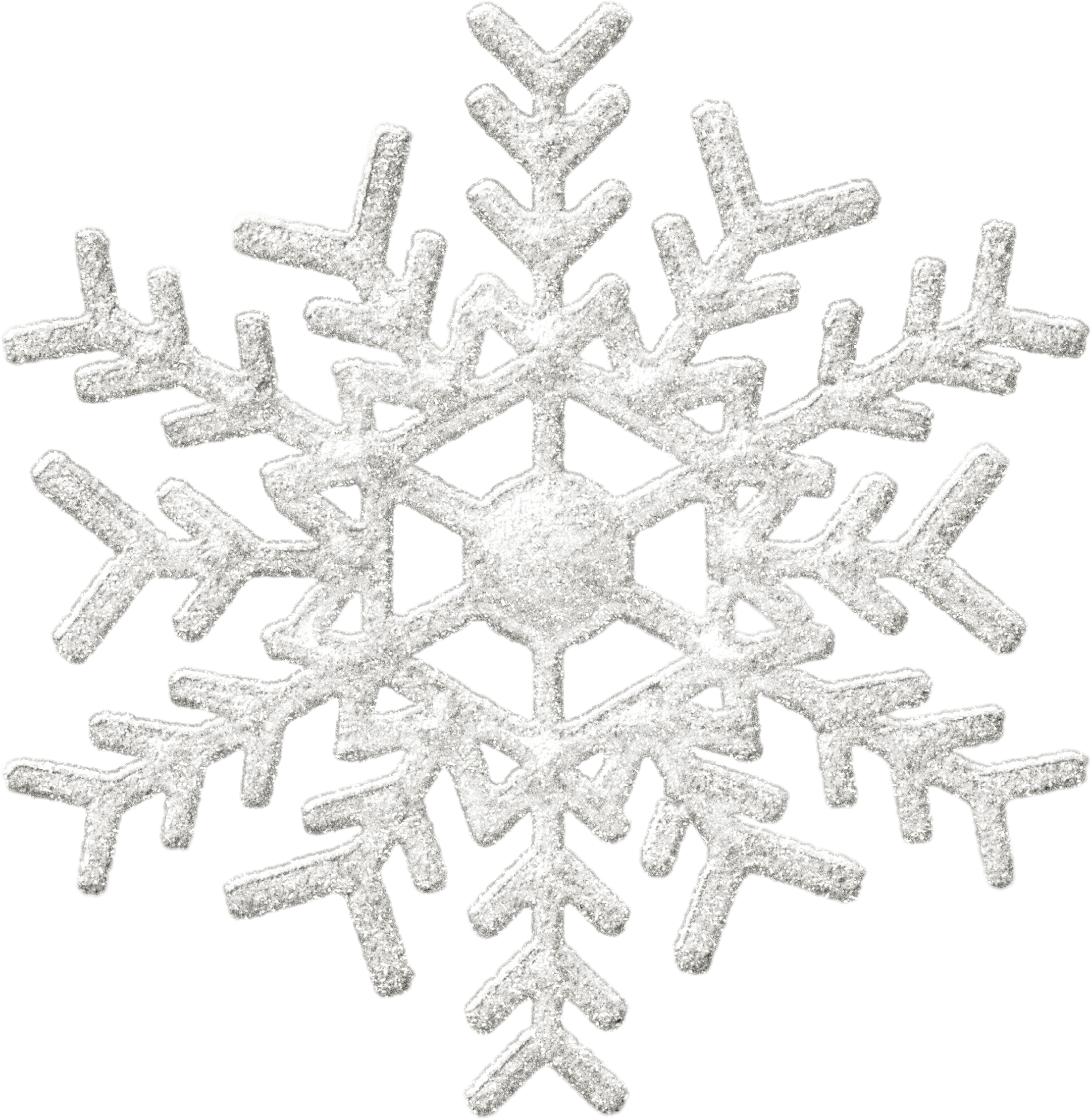 Snowflake png free. Silver transparent stickpng download