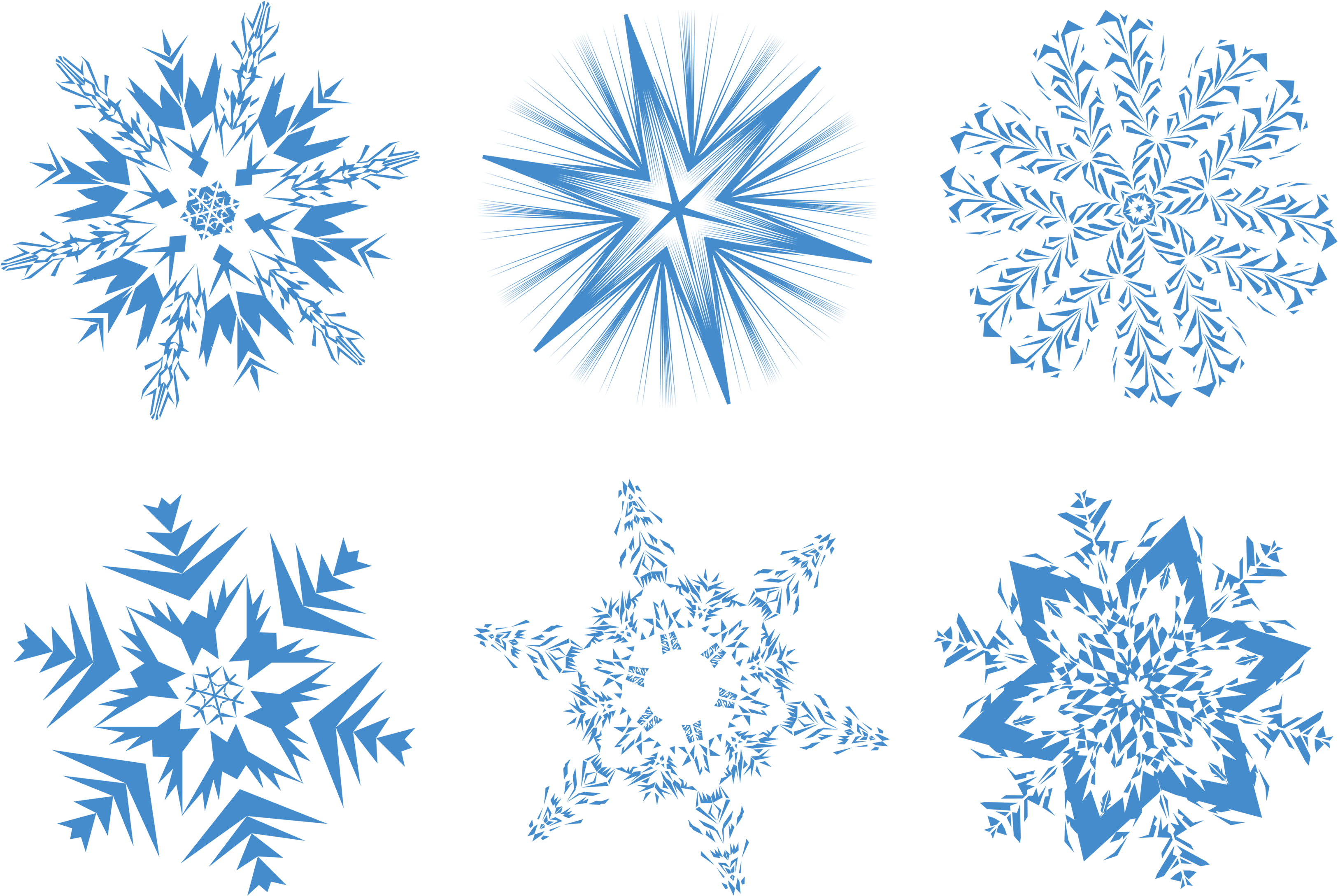 Blue snowflakes png. Image purepng free transparent