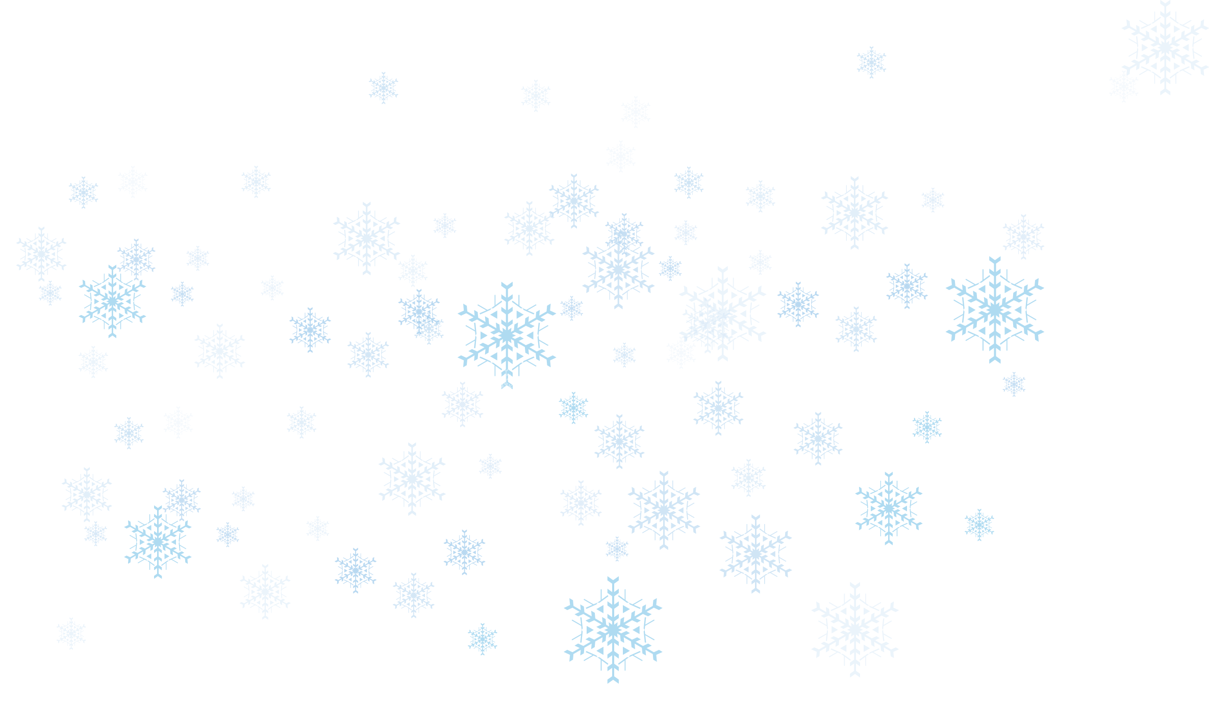 snowflakes png light blue