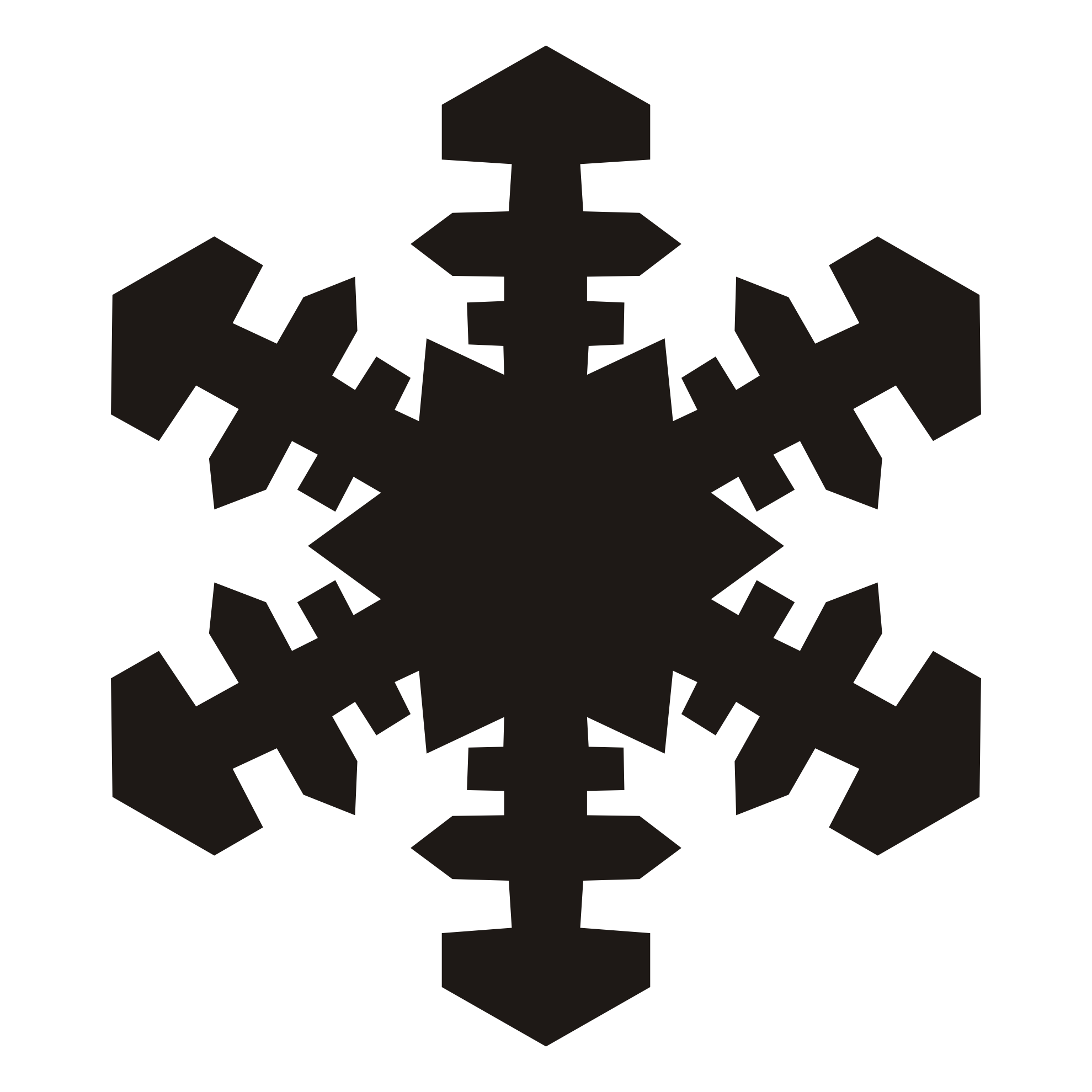 Snowflakes clipart silhouette. Free snowflake cliparts download